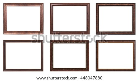 Classic frame on white background.