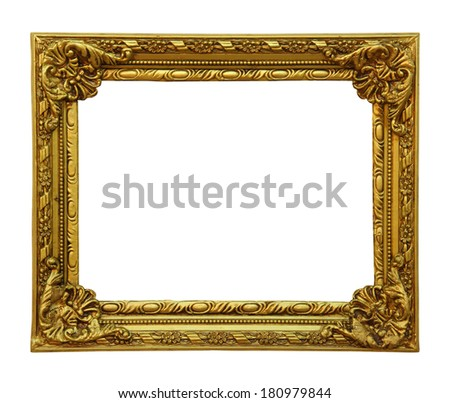 Classic golden Frame - stock photo