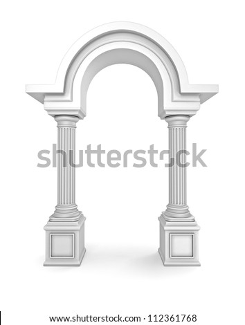 Classic Greek Arc - stock photo