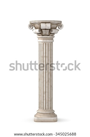 Classic Greek Pillar. 3d rendering. - stock photo