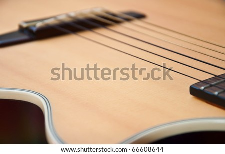 classic guitar style - stock photo