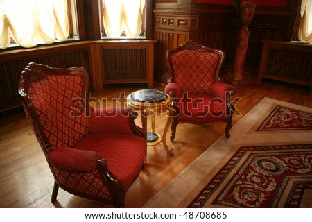 classic  interior - stock photo