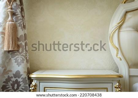 Classic interior, furniture parts - stock photo
