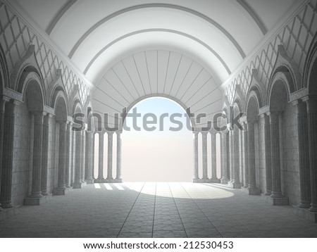 Classic Interior With Arches And Columns