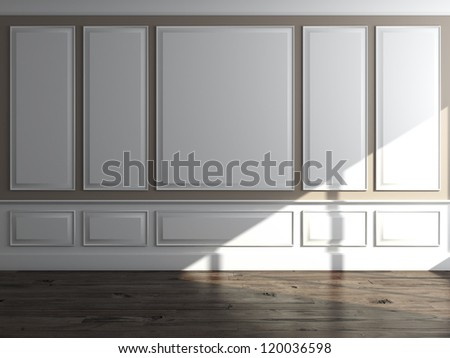 Classic interior with daylight - stock photo