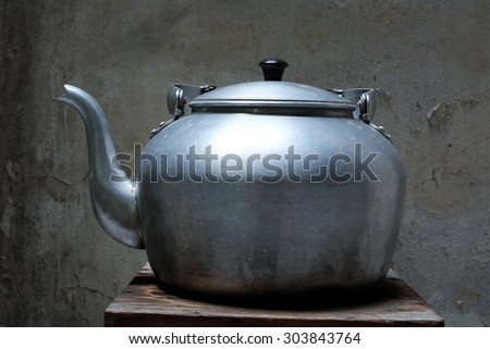 classic kettle vintage - stock photo
