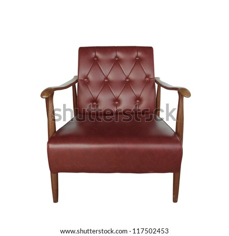 classic leather chair isolated on white