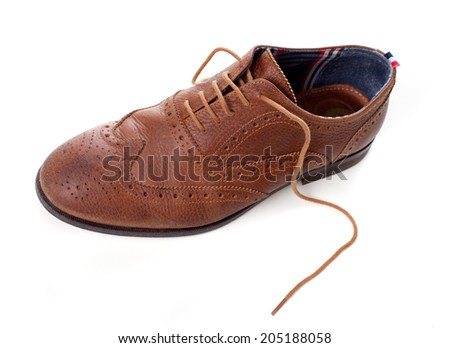 classic leather shoes - stock photo