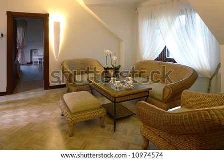 Classic living room - stock photo