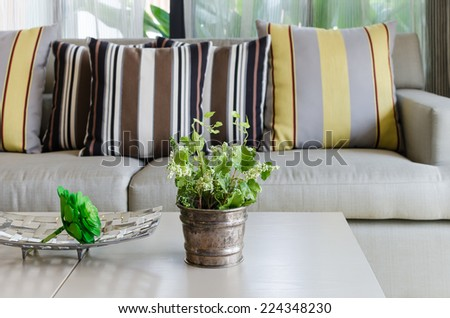 classic living room design decoration - stock photo