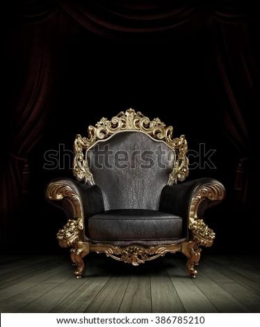 classic luxury chair - stock photo