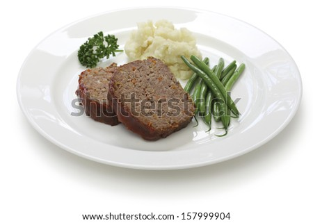 classic meatloaf, american food - stock photo