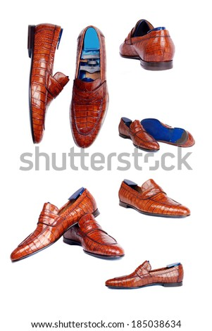 classic men's shoes on a white background