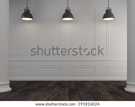 Classic museum wall background - stock photo