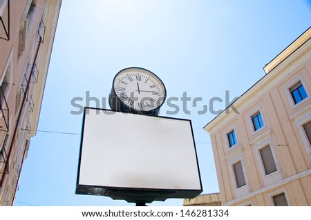 Classic old advertise panel in Rome streets, Italy - stock photo