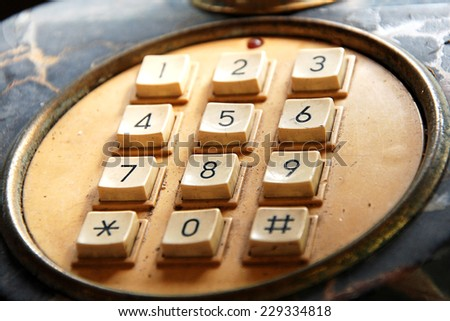 Classic phone's number pad - stock photo