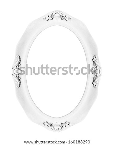 Classic picture frame isolated on white background - stock photo
