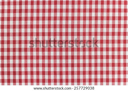 classic red and white checkered tablecloth textile