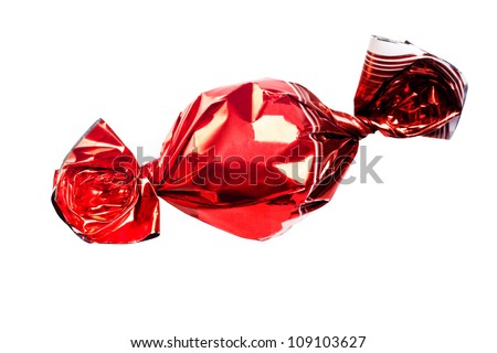 Classic red candy isolated over white