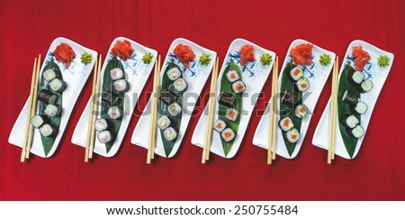 Classic rolls chinese food - stock photo