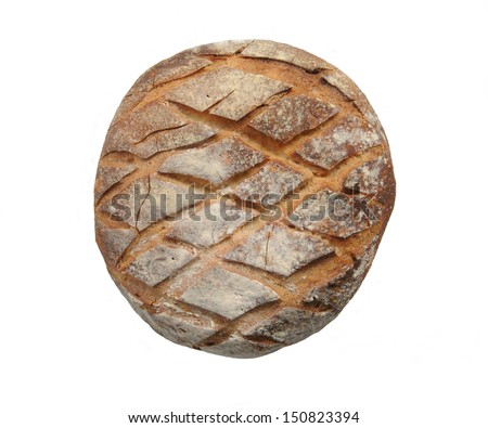 Classic Round Rye Bread from France - stock photo