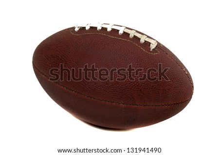 Classic rugby ball isolated in white