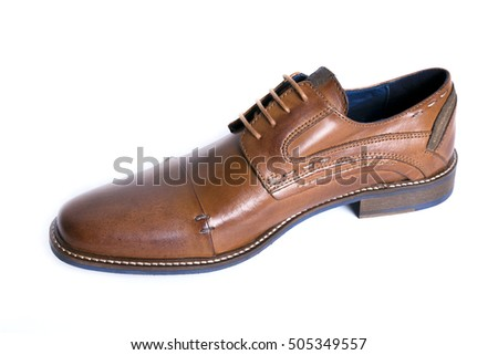 classic shoe brown in white background