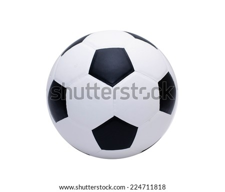 Classic soccer ball on white background  - stock photo