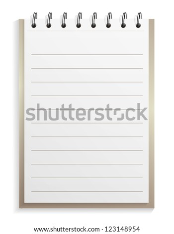 Classic spiral lined notepad, jpeg version - stock photo