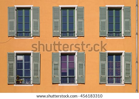 Classic Style French Balconies With Big Windows