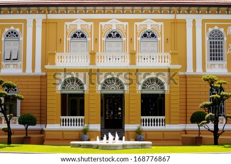 Classic style gate of old building ,Bangkok Thailand