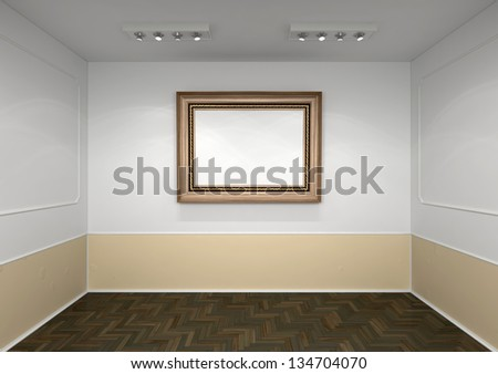 classic style interior with  picture frame on the wall
