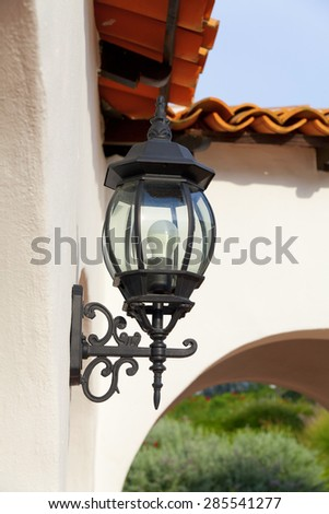 Classic style lamps on wall,outdoor