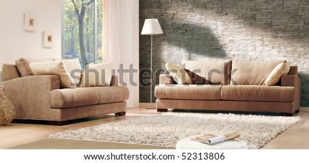classic style lounge - stock photo