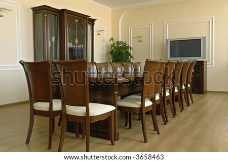 Classic style of business meeting of conference room interior
