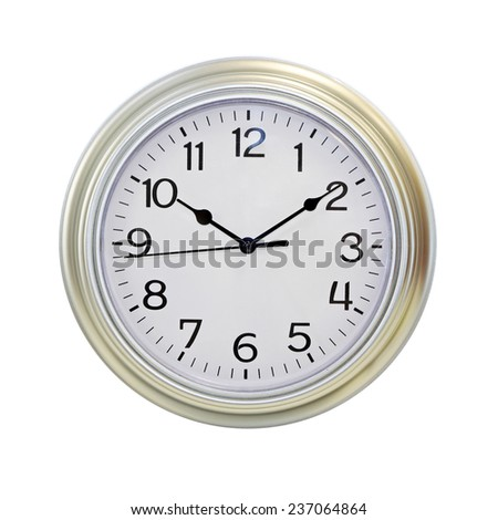 Classic style old analog round clock