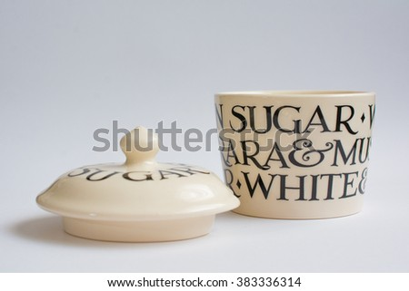 Classic Suger Bowl with Lid Infront Front View