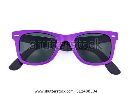 Classic sunglasses isolated on white background - stock photo