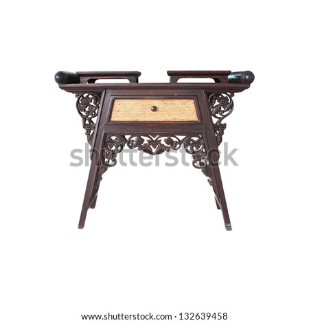classic table. isolated on white - stock photo