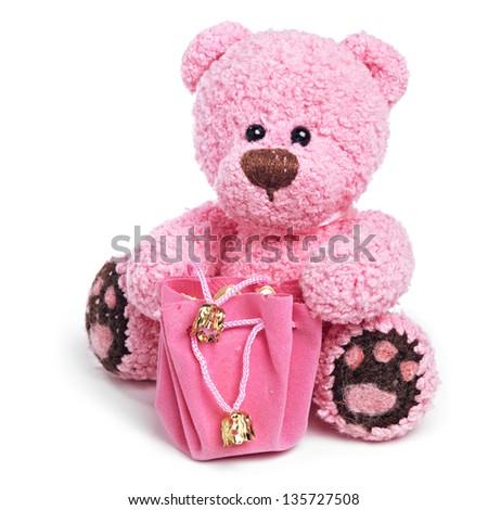 Classic teddy bear - stock photo
