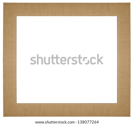 Classic textured frame isolated on white background