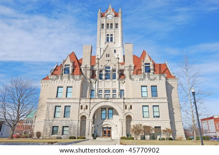 classic town hall building in greenfield indiana - stock photo
