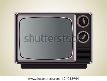 classic tv - stock photo