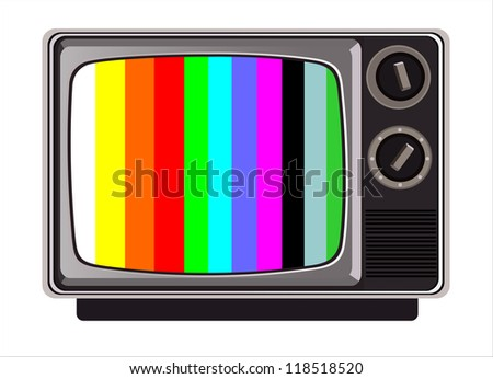 classic tv -colorful no signal background - stock photo