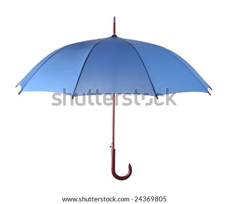 Classic umbrella isolated over white background\ - stock photo