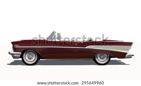 Classic Car White Background Stock Images Royalty Free Images