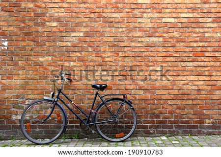 Classic view of Bike and wall # 1