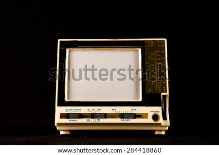 Classic Vintage Retro Style Old Plastic Televison - stock photo