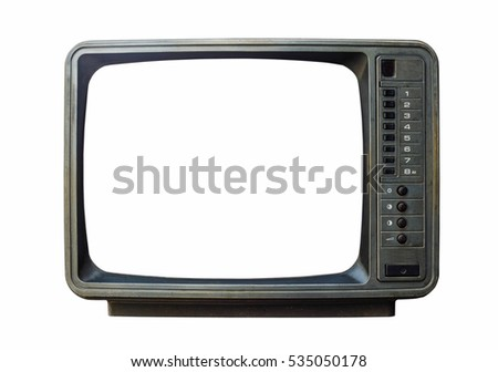 Classic Vintage Retro Style old  television with cut out screen