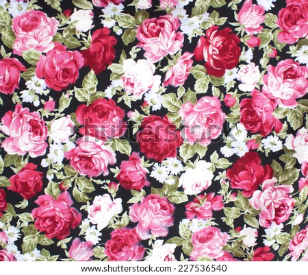 classic wallpaper seamless vintage flower pattern on green background - stock photo